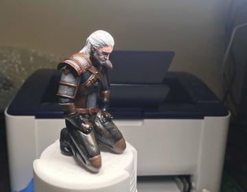 Geralt meditating before going on his next hunt