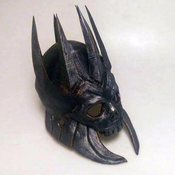 A full scale replica of Eredin's helmet