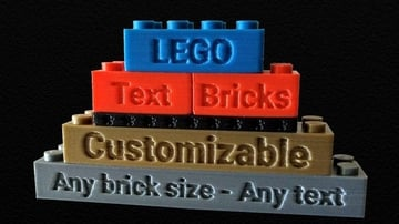 Various sizes of bricks with text