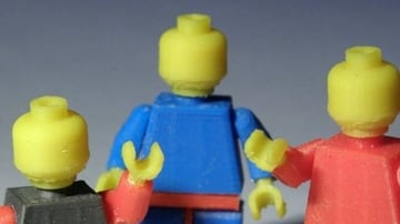 Blank Minifigures, perfect for coming up with your own wacky Lego characters