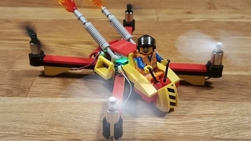 The finished quadcopter, ready to zip around
