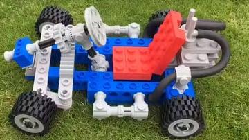 A giant Lego Go-Kart