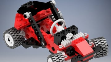 The 8808 Buggy Lego set, ready for printing