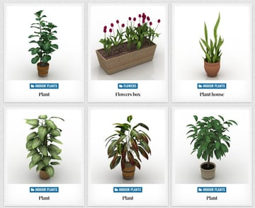 Some examples of 3D printed plants