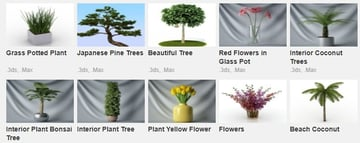 3D printed trees and flowers