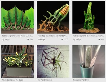 Unique and strange-looking 3D printed plants