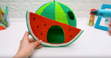 A watermelon house for your hamster