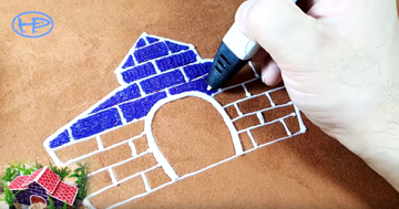 With a 3D pen you have the freedom to switch colors easily