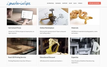 i.Materialise is able to serve a variety of 3D printing needs