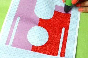 Using a stencil keeps things easy