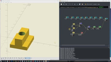 OpenSCAD and FreeCAD are two ways to get to the same general model destination