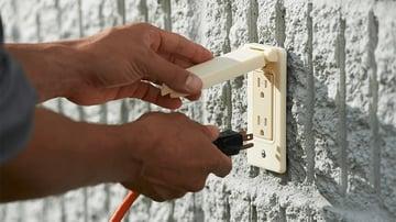An external outlet socket made of ASA