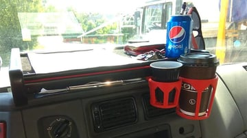 Because of its UV resistance, ASA is a good candidate for car dashboard cupholders