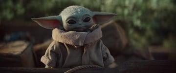 Baby Yoda in the Disney series The Mandalorian