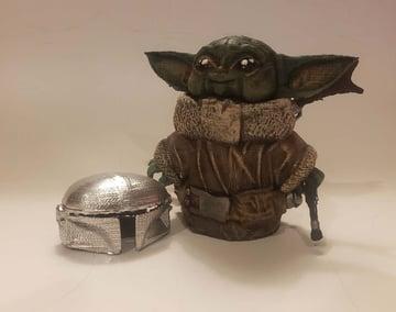 A finished Mando Baby Yoda