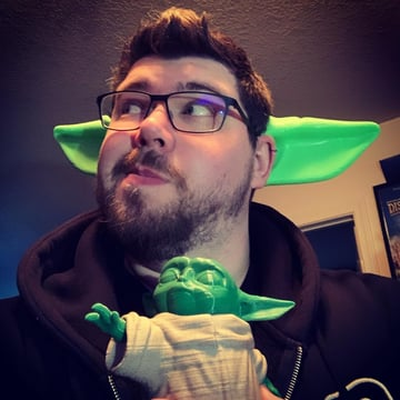The ears of Baby Yoda