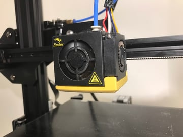 Luckily, the Ender 3 has a cooling fan duct