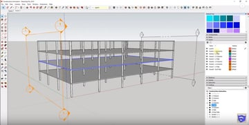 Using section cuts for animation in SketchUp works well with construction animations