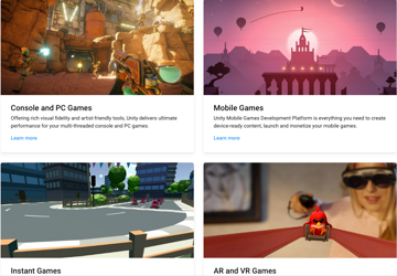 There are many different types of games that you can design with Unity