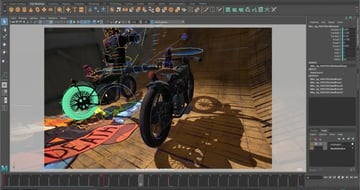 Maya's software allows cached playback for animation