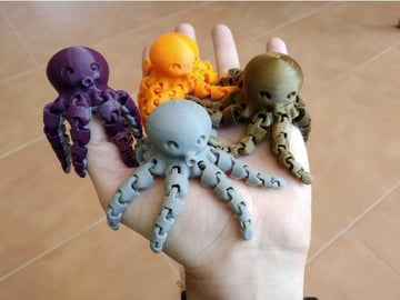 Cute mini octopuses that fit in your hand