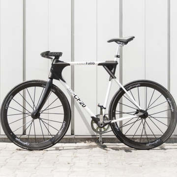 A standard looking 3D printed bike frame