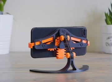 Afbeelding van coole dingen om in 3D af te drukken: telefoonstandaard snel vastpakken / loslaten
