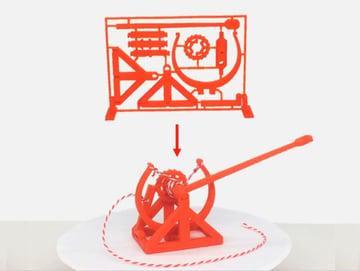 Afbeelding van coole dingen om in 3D af te drukken: DaVinci Catapult Gift Card