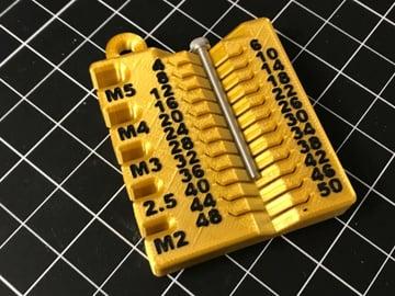 Afbeelding van coole dingen om in 3D af te drukken: metrisch meetapparaat voor schroeven