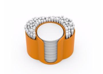 Afbeelding van coole dingen om in 3D af te drukken: standaard voor wattenstaafjes en -schijven