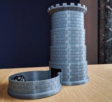 Afbeelding van coole dingen om in 3D af te drukken: opvouwbare dobbelstenenhouder