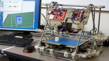 The RepRap Mendel, the grandfather of all desktop 3D printers of today