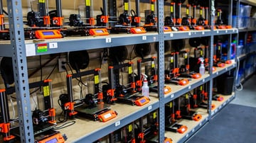 Print farms are now only possible due to low-cost 3D printer models and materials on the market