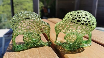 Printing with resin can give beautifully intricate results