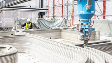 Automated 3D printing construction could reduce the amount of onsite laborers by at least 70%