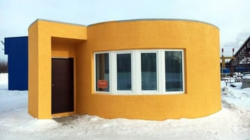 Apis Cor's rotor house in Russia cost around $10,000, including interior finishings