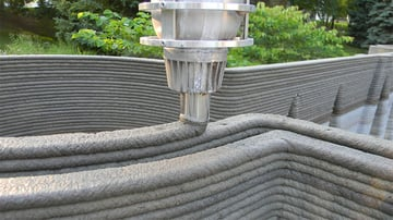 Construction 3D printing feedstock can be made out of recycled materials
