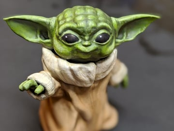 It's Baby Yoda smiling at you