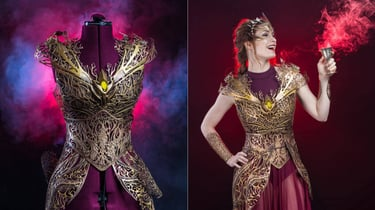 Featured image of Actress Felicia Day Models The Dreamer's Regalia