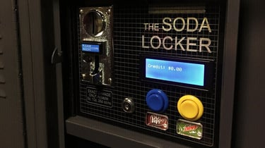 Featured image of Soda Locker Vending Machine Made with 3D Printed Parts