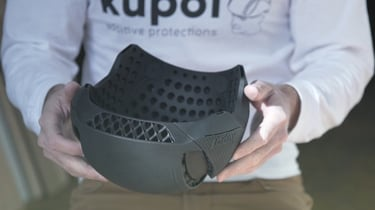 Featured image of Designer Creates 3D Printed Bicycle Helmets Using HP's Multi Jet Fusion