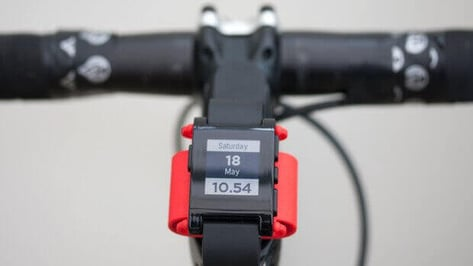 Featured image of 3D Printed Pebble Watch Bike Mount