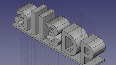 Featured image of How to 3D Print Letters or Text using FreeCAD