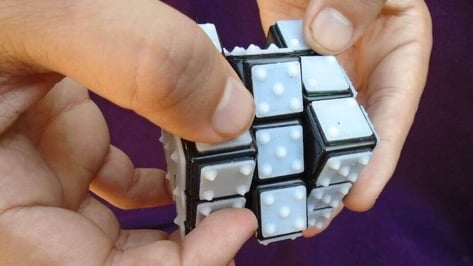 Featured image of Custom Rubik's Cube in Braille