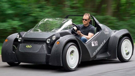 "Featured image of Test Driving the ""Strati"", Local Motor's 3D Printed Car"