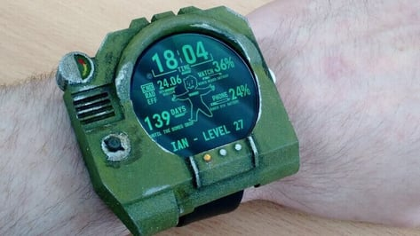Featured image of Moto 360 Pip-Boy Watch-Face: 3D Print Your Own