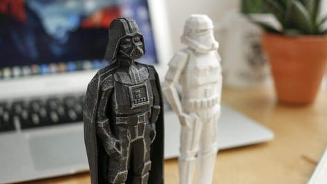 Featured image of Funky Darth Vader and Stormtrooper Models for 3D Printing Day
