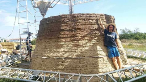 Featured image of WASP are 3D Printing a Shelter Built from Clay and Straw