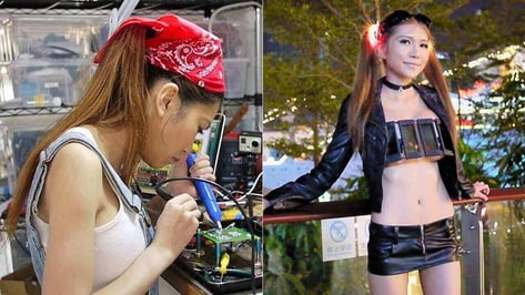 Featured image of SexyCyborg Confronts Maker Sexism with LCD Shutter Top