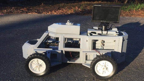 "Featured image of 3D Printed ""Sentinel"" Robot Keeps Police and Civilians Safe in Traffic Stops"